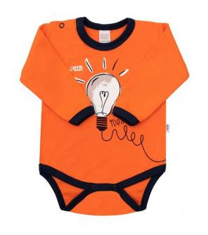Kojenecké bavlněné body s dlouhým rukávem New Baby Happy Bulbs