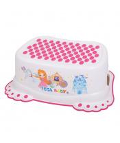 Dětské protiskluzové stupátko do koupelny Malá Princezna bílé