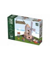 Stavějte z cihel Větrný mlýn stavebnice Brick Trick v krabici 36x25x7cm