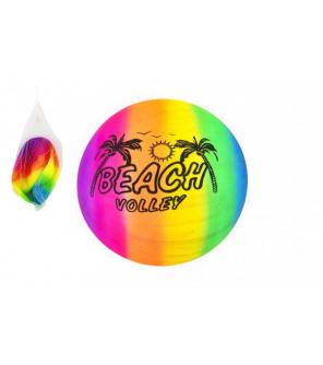 Míč plážový gumový nenafouknutý 23cm v síťce