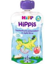 HiPP BIO HiPPis Jablko, Hruška, Dračí ovoce, Černý rybíz (12m+) 100 g