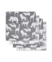 Jollein bavlněné pleny s potiskem 4ks, Safari Stone Grey