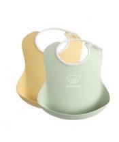 BABYBJÖRN Baby bryndáky 2 ks pudrově žlutá/pudrově zelená