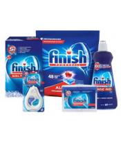FINISH Starter pack pro myčky – tablety 48 ks, sůl, leštidlo, osvěžovač, čistič