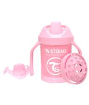 TWISTSHAKE Hrnek učicí 230 ml (4m+) pastelově růžová