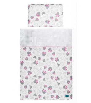 3-dílné ložní povlečení Belisima Myška s mašličkou 100/135 růžové