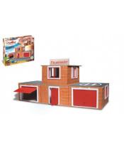Stavebnice Teifoc Hasičská stanice 220ks v krabici 35x29x8cm