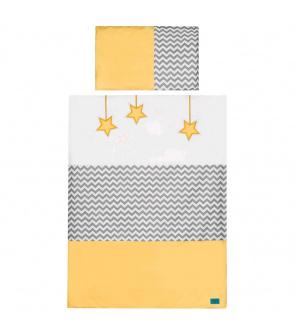 6-dílné ložní povlečení Belisima Hvězdička 100/135 žluté
