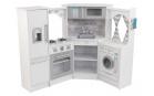 Kidkraft Dřevěná rohová kuchyňka s efekty Ultimate Corner Play bílá
