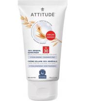 ATTITUDE 100% minerální opalovací krém (SPF 30) pro suchou a atopickou pokožku bez vůně 150 g