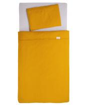 BABYMATEX Prádlo ložní Muslin Světlo Hořčičná 3dílná