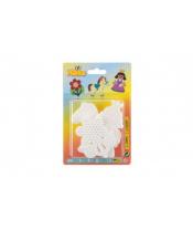Podložka na zažehlovací korálky Hama - kytička,koník, princezna plast 3ks na kartě 12x18x3cm