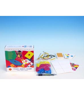 Tvary, barvy, paměť společenská hra naučná v krabici 20x18x5cm