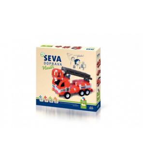 Stavebnice SEVA DOPRAVA Hasiči plast 545 dílků v krabici 35x33x5cm