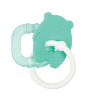 NATTOU Kousátko silikonové s chladící částí bez BPA zelený macko