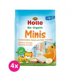 4x HOLLE Bio minis banánovo-pomerančové 100 g