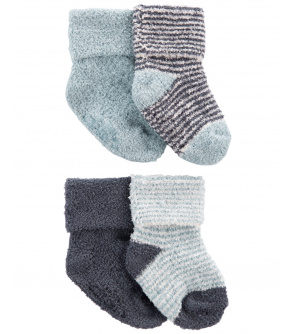CARTER'S Ponožky Stripes Blue chlapec LBB 4ks 0-3m
