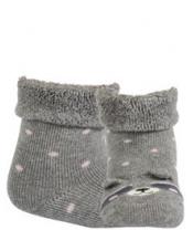 WOLA Ponožky kojenecké froté s oušky holka Ash 15-17