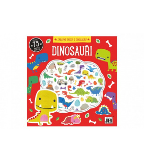 Zábavné úkoly s dinousaury s pěnovými samolepkami 20x20cm