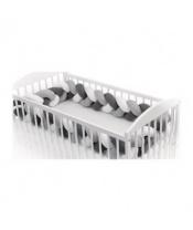 T-TOMI Mantinel pletený 360 cm, white + grey + anthracite