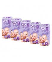 MEGAPACK Dětské jednorázové pleny New Love Premium comfort 4 MAXI 7-18 kg 5x44 ks