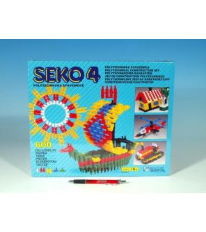 Stavebnice Seko 4 plast 600ks v krabici 35x29x3,5cm