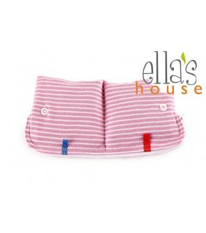 Moon pouch stripes pink-kapsička na hygienické potřeby