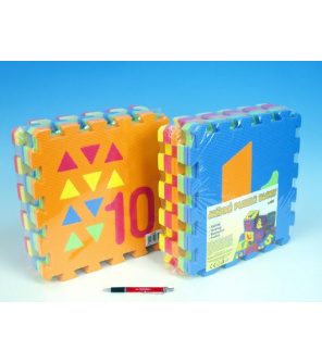 Pěnové puzzle Počítání/Tvary 30x30cm 10ks v sáčku