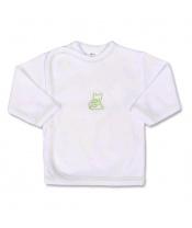 Kojenecká košilka s vyšívaným obrázkem New Baby zelená