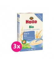 3x HOLLE Kaše nemléčná Bio rýžová 250 g