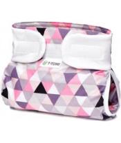 T-TOMI Kalhotky abdukční ortopedické (3-6 kg) - pink triangles
