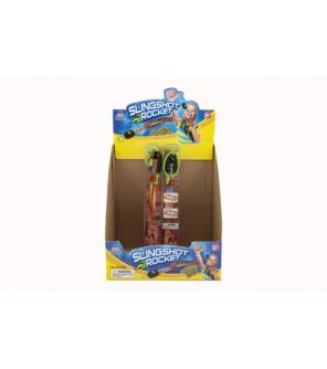 Vystřelovací šipka pěnová se světlem 25cm 2 barvy v krabičce 24 ks v boxu