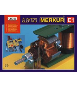 Stavebnice MERKUR E1 elektřina, magnetizmus v krabici 36x28x8cm