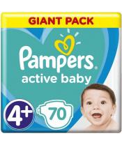 Plenky Active Baby 4+ MAXI+ 10-15kg 70ks Pampers
