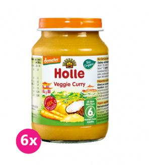 6x HOLLE Bio Organic Vegetariánské kari (6 m+), 190 g
