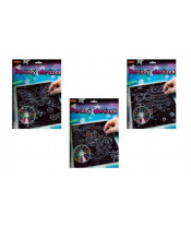 Perlový obrázek 200ks barevných perel 20,3x25,4cm asst 3 druhy na kartě