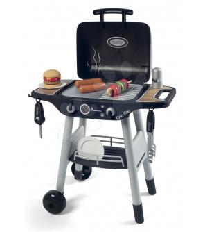 Smoby  Grill Barbecue s mechanickými funkcemi a zvukem a 18 doplňky 73 cm výška