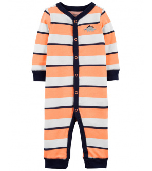 CARTER'S Overal bez nožiček na druky Sleep & Play Orange Stripes chlapec NB, vel. 56