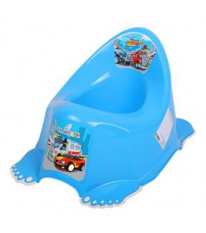 Hrající dětský nočník protiskluzový Autíčka modrý