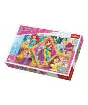 Puzzle Princezny Disney koláž  41x27,5cm 160 dílků v krabici 29x19x4cm