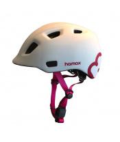 HAMAX Cyklohelma Thundercap White/Pink 52-57