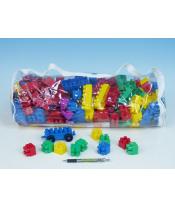 Stavebnice LORI 250 plast 250ks v plastovém pytli 30x45x22cm