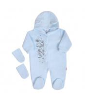 Fleecový overal New Baby Kamarádi modrý