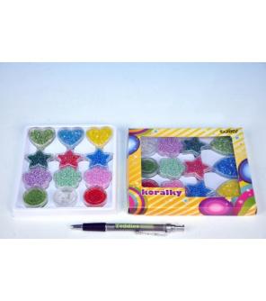Korálky 11 barev v krabičce