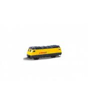 Lokomotiva/Vlak RegioJet 9cm kov/plast na volný chod v krabičce 10,5x5x4,5cm