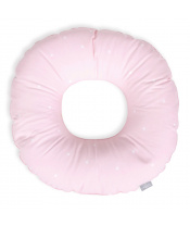 CEBA Polštář poporodní kruh Tečky bílo-růžové