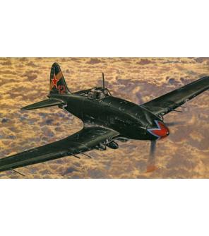 Model Iljušin II-10/Avia B-33 15,5x18,5cm v krabici 25x14,5x4,5cm