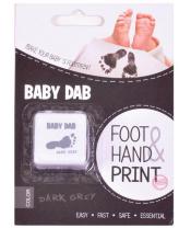 BABY DAB Barva na dětské otisky - šedá
