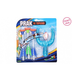 Prak 14x20cm + šipky s přísavkami 3ks plast na kartě
