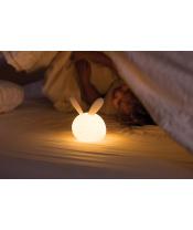 NATTOU Světýlko noční silikonové se senzorem pláče Lapidou zajíček
